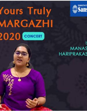 YTMargazhi 2020 Concert by MANASA HARIPRAKASH